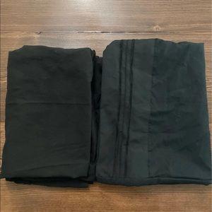 Black micro fiber pillow cases